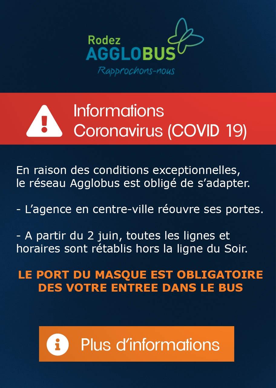 Informations Coronavirus (COVID-19)