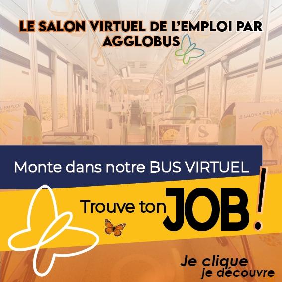 Salon virtuel de l'emploi proposé par Agglobus